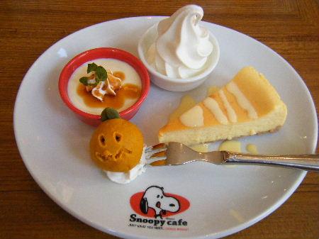 NYチーズケーキ スヌーピーカフェ