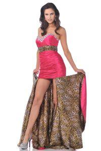 Leopard Print Prom Dress