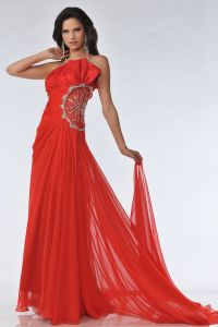 CDK21116, Spaghettie Strapped Embellish Cut Out Prom Dress