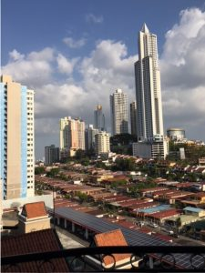 Panoramic views of Panama City from the hotel