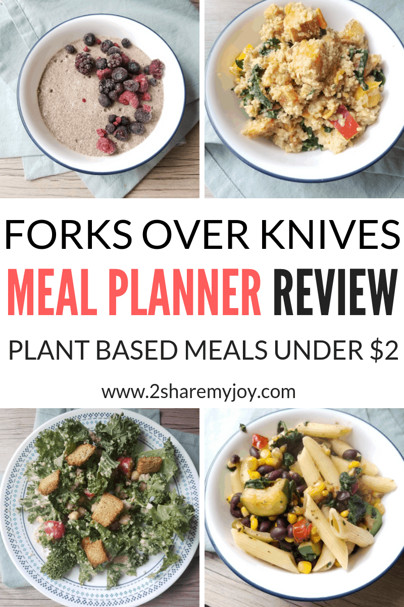 Forks over Knives meal planner program review. Easy plant based recipes that can be done in 20 or 30 minutes and are super healthy #vegan #Plantbased #quickmeals #20minutes #mealplan