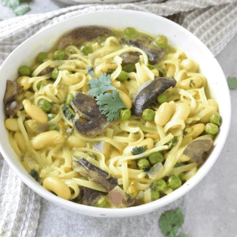 Easy Vegan Thai Soup (high protein, gluten free, oil free)
