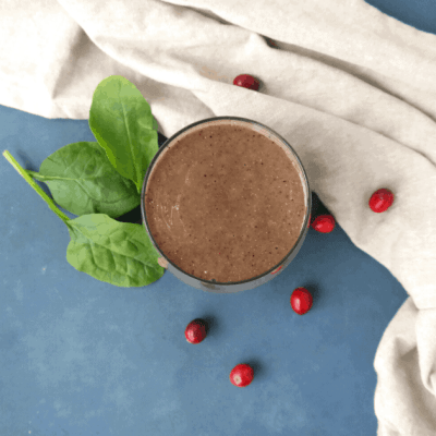 Cranberry Smoothie Recipe (vegan)