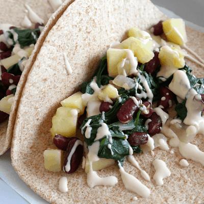 Spinach Potato Tacos (Vegan, 30 Minutes)