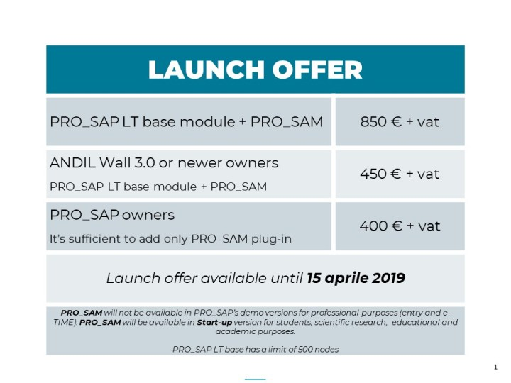 PRO_SAM launch offer