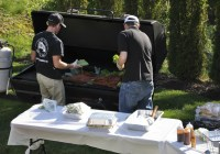 Sangria + Pig = Backyard BBQ   2 Sisters 2 Cities