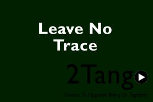 2tango optie zwartgroen leave no trace
