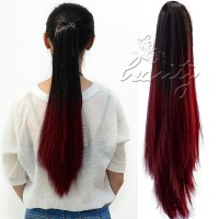 AU Stock Claw On Straight Pony Tail Ombre Colored Hair ...