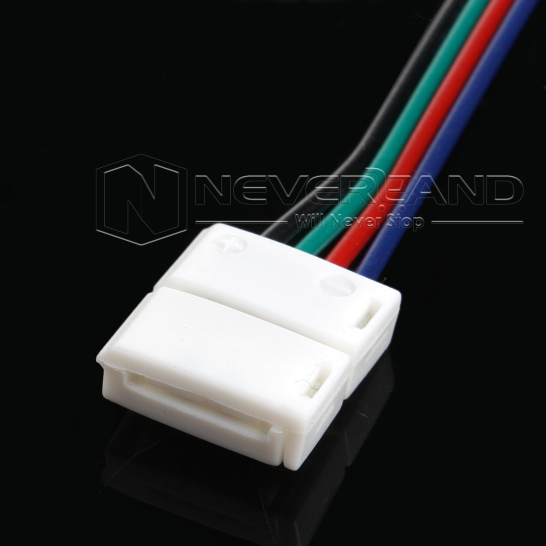 5050 rgb led strip wiring diagram simple cpu 5pcs 10mm 4 pin two connector with wire cable for smd