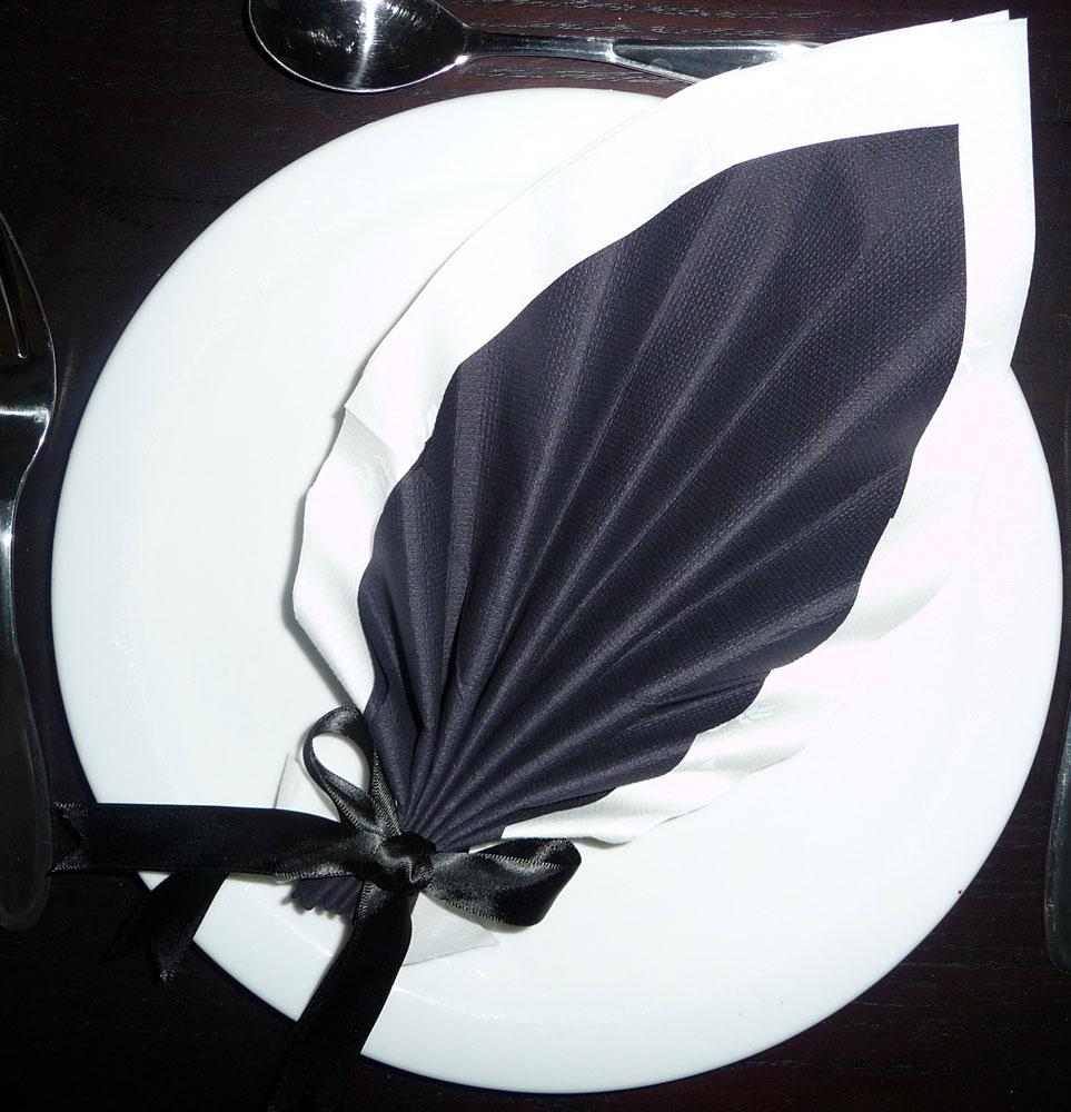 serviette en papier feuille de palmier