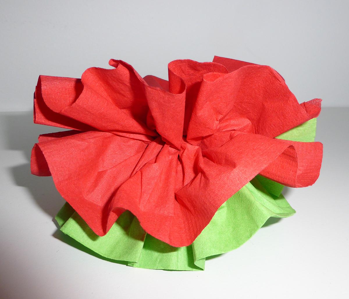 Pliage De Serviette De Table En Forme De Fleur De Pivoine