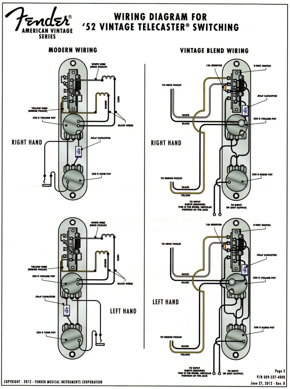 fender 52 telecaster wiring diagram 3 way