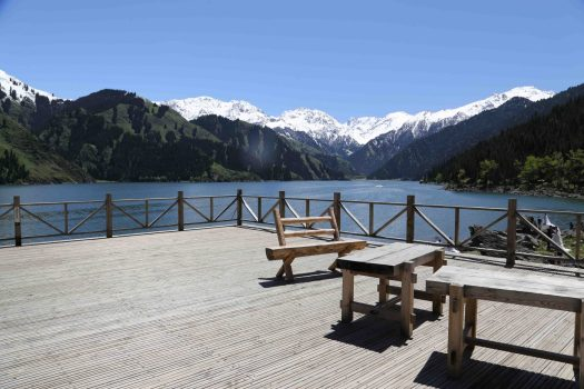 Tian Chi picnic spot with scenery
