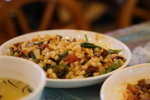 Xinjiang cuisine Uighur cuisine ding ding mian chopped noodles