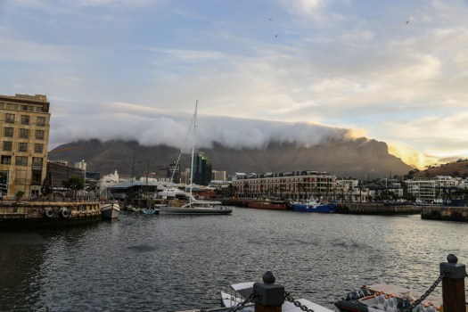 Table mountain obscured by clouds