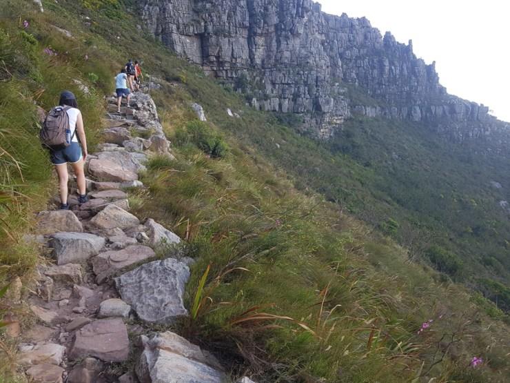 Climbing the Platteklip Gorge