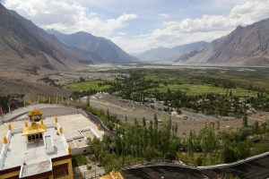 view of nubra valley, hunder and diskit