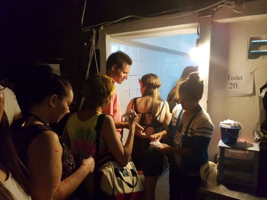 Paying for toilet at Haad Rin Full Moon Party