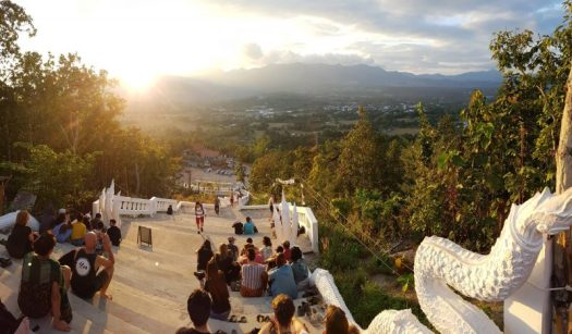 Sunset over Pai, from the Big Buddha temple
