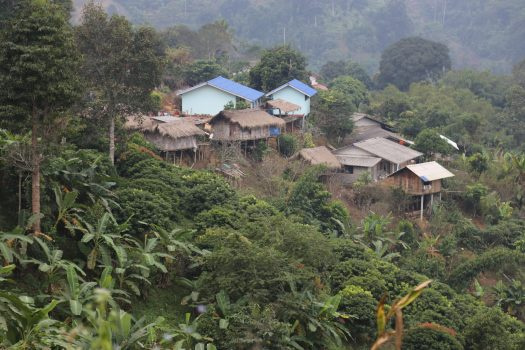 After hours of hiking, we come to a remote Lisu village deep in the hills of Northern Thailand