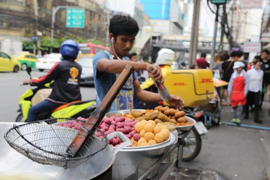 Dine on street food everywhere in Bangkok