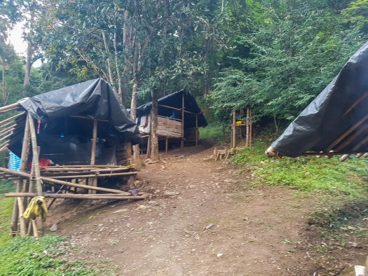 The jungle camp where we'll spend the night