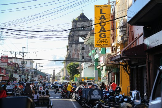 The streets of Laoag retains some of its colonial architecture