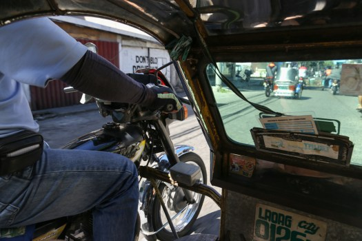 Tricycles are the main form of transportation in Laoag