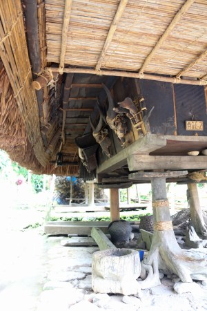 The Ifugao huts are built on an elevated platform