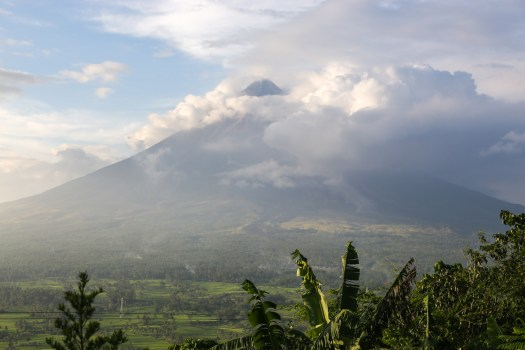 Mount Mayon, as seen from Lignon Hill