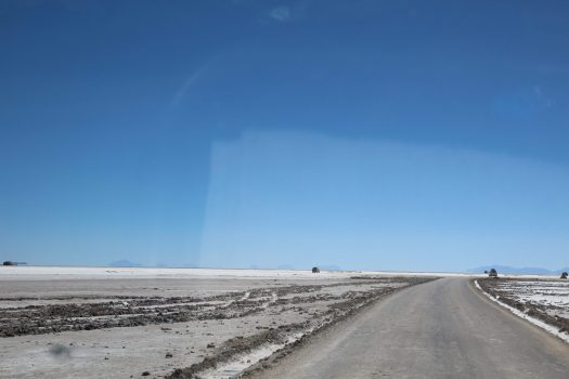 The edge of the Uyuni Salt Flats