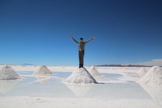 Mounds of salt in Uyuni