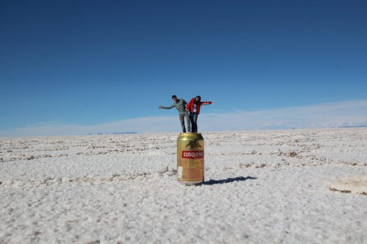 Perspective shot in Uyuni