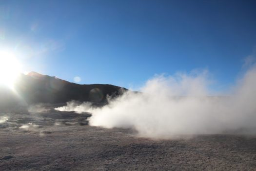 Hot springs in southern Bolivia