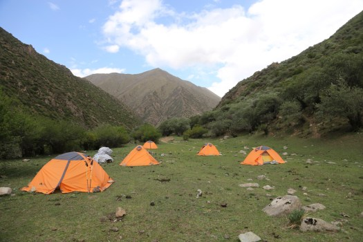 The campsite at the Herders Valley