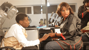 Nothando Nobhengula (right) and Teddy Mangava(left) in a scene from the pilot of Salon.Com