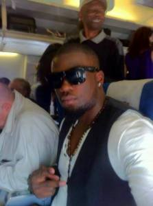 Hakeem on the plane to Zambia