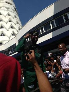 Elikem on his way out of the Harare International Airport