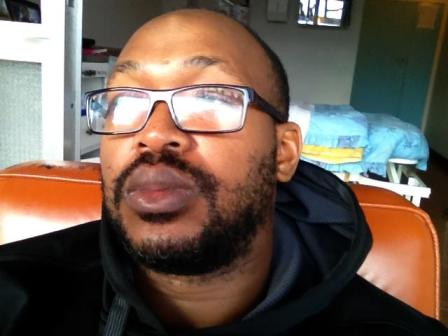 Carl Joshua Ncube's selfie from his hospital room