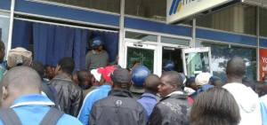Riot police had to be called to deal with unhappy Metbank clients