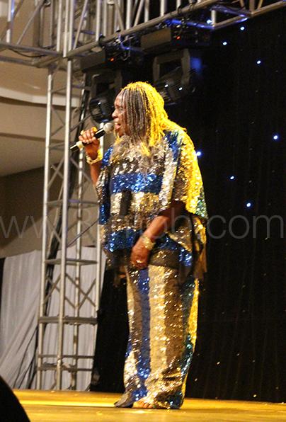 Guest of honour Dorothy Masuku performing
