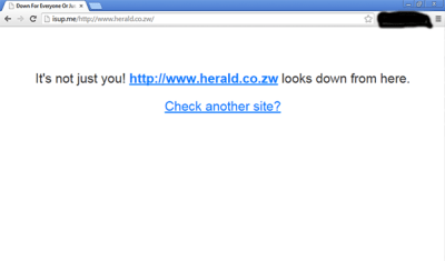 Herald was down a lot on Tuesday