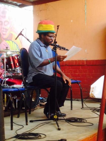 Shepherd Mutamba at launch of Tuku book - PIC:  @shoeslambada
