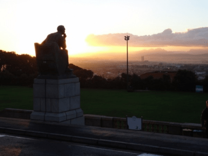 Cecil John Rhodes looking over Cape Town