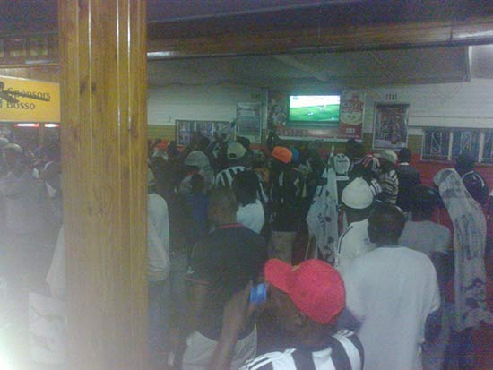 Highlanders fans at club house PIC:  Highlanders Fan page