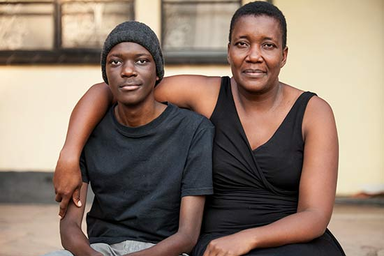 Takudzwa Paradza with mother Maria