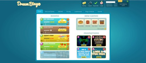 Dream Bingo Home Page