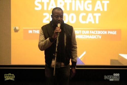 Ben Mahaka gives his speech at the Zambezi Magic launch