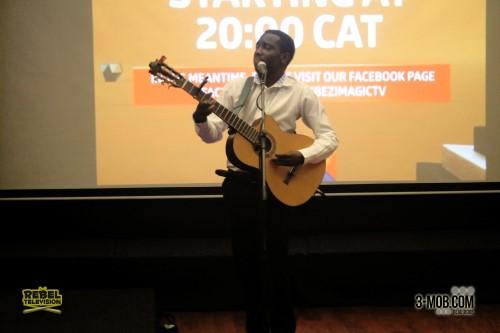 Josh Meck performs at the Zambezi Magic launch