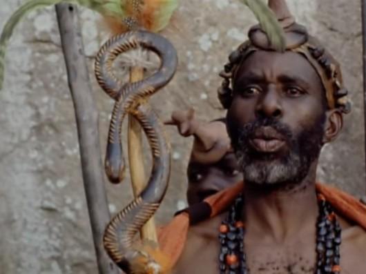 Fidelis Cheza as Chief Palala in the 1992 film 'The Lost World' PIC: arthur-conan-doyle.com